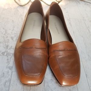 Enzo Angiolini Shoes - Enzo Angiolini Tan Leather Loafers Size 6.5